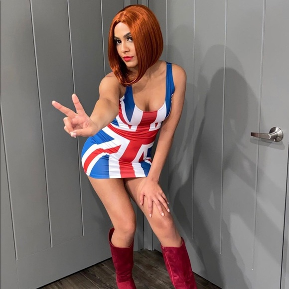 Ginger spice costume w/ wig